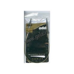 Спицы Addi Круговые супергладкие никелевые 8 мм / 40 см