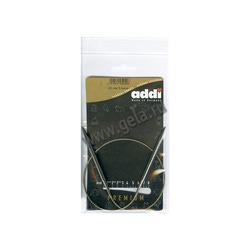 Спицы Addi Круговые супергладкие никелевые 5 мм / 50 см