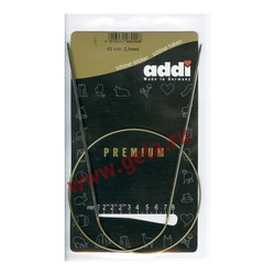 Спицы Addi Круговые супергладкие никелевые 2.5 мм / 60 см