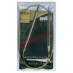 Спицы Addi Круговые супергладкие никелевые 8 мм / 60 см