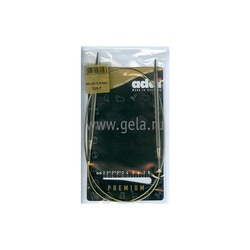 Спицы Addi Круговые супергладкие никелевые 5 мм / 80 см