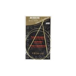 Спицы Addi Круговые с удлиненным кончиком позолоченные 1.75 мм / 100 см