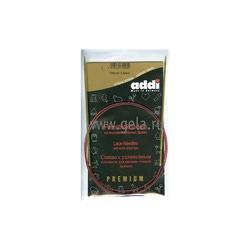 Спицы Addi Круговые с удлиненным кончиком позолоченные 2.5 мм / 100 см