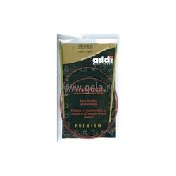 Спицы Addi Круговые с удлиненным кончиком позолоченные 3.5 мм / 100 см