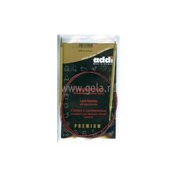Спицы Addi Круговые с удлиненным кончиком позолоченные 4.5 мм / 100 см