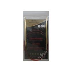 Спицы Addi Круговые с удлиненным кончиком позолоченные 6 мм / 100 см