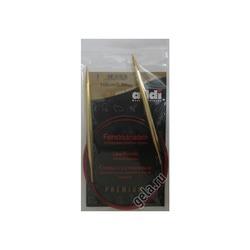 Спицы Addi Круговые с удлиненным кончиком позолоченные 6.5 мм / 100 см
