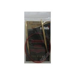 Спицы Addi Круговые с удлиненным кончиком позолоченные 7 мм / 100 см