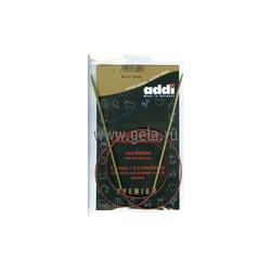 Спицы Addi Круговые с удлиненным кончиком позолоченные 2.5 мм / 80 см