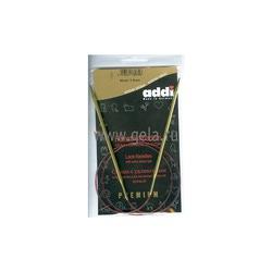 Спицы Addi Круговые с удлиненным кончиком позолоченные 3.5 мм / 80 см