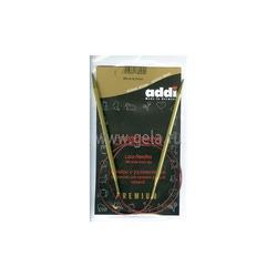 Спицы Addi Круговые с удлиненным кончиком позолоченные 4.5 мм / 80 см