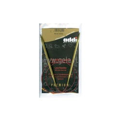 Спицы Addi Круговые с удлиненным кончиком позолоченные 5 мм / 80 см