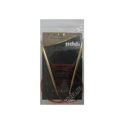 Спицы Addi Круговые с удлиненным кончиком позолоченные 6 мм / 80 см
