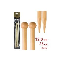 Спицы Addi Прямые бамбуковые 12 мм / 25 см
