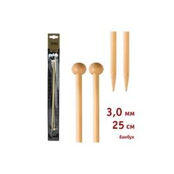 Спицы Addi Прямые бамбуковые 3 мм / 25 см