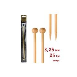 Спицы Addi Прямые бамбуковые 3.25 мм / 25 см