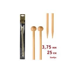 Спицы Addi Прямые бамбуковые 3.75 мм / 25 см