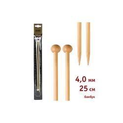 Спицы Addi Прямые бамбуковые 4 мм / 25 см