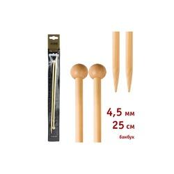 Спицы Addi Прямые бамбуковые 4.5 мм / 25 см