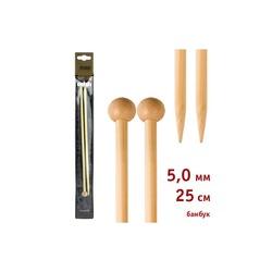 Спицы Addi Прямые бамбуковые 5 мм / 25 см