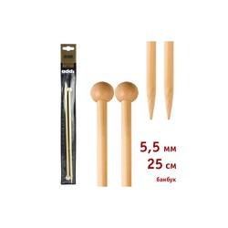 Спицы Addi Прямые бамбуковые 5.5 мм / 25 см