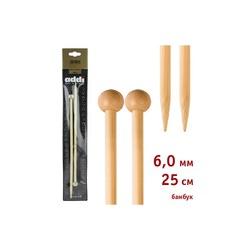 Спицы Addi Прямые бамбуковые 6 мм / 25 см