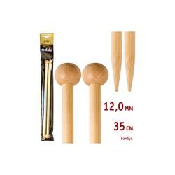 Спицы Addi Прямые бамбуковые 12 мм / 35 см