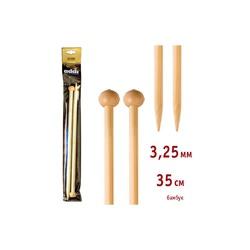 Спицы Addi Прямые бамбуковые 3.25 мм / 35 см