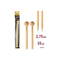 Спицы Addi Прямые бамбуковые 3.75 мм / 35 см