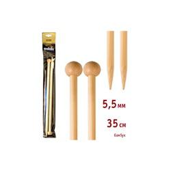 Спицы Addi Прямые бамбуковые 5.5 мм / 35 см