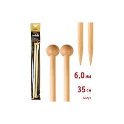 Спицы Addi Прямые бамбуковые 6 мм / 35 см