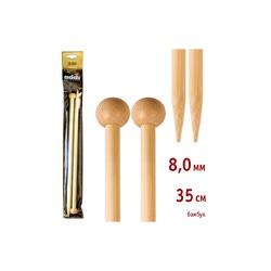 Спицы Addi Прямые бамбуковые 8 мм / 35 см