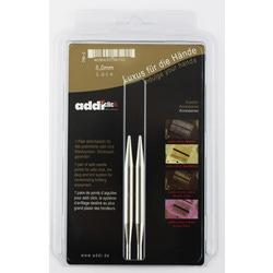 Аксессуары Addi Дополнительные спицы с удлиненным кончиком к addiClick LACE, никелированная латунь 8 мм