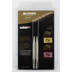 Аксессуары Addi Дополнительные спицы с удлиненным кончиком к addiClick LACE, никелированная латунь 6.5 мм