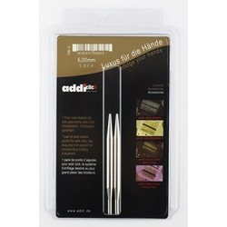 Аксессуары Addi Дополнительные спицы с удлиненным кончиком к addiClick LACE, латунь 6 мм