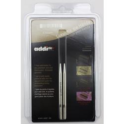 Аксессуары Addi Дополнительные спицы с удлиненным кончиком к addiClick LACE, никелированная латунь 4.5 мм