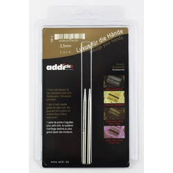 Аксессуары Addi Дополнительные спицы с удлиненным кончиком к addiClick LACE, никелированная латунь 3.5 мм