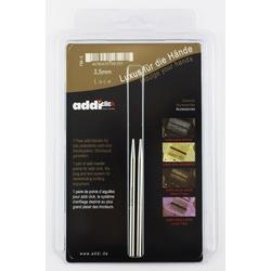 Аксессуары Addi Дополнительные спицы с удлиненным кончиком к addiClick LACE, латунь 3.5 мм