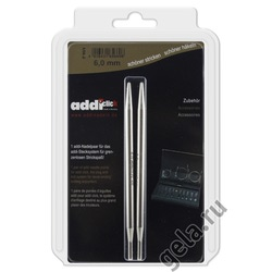 Аксессуары Addi Дополнительные спицы к addiClick, никелированная латунь 6 мм