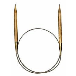 Спицы Addi Круговые из оливкового дерева 9 мм / 120 см
