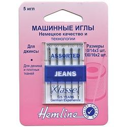 Иглы Hemline Для бытовых швейных машин джинс