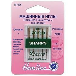 Иглы Hemline Для бытовых швейных машин c острым кончиком