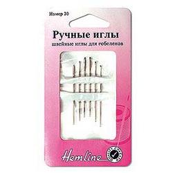Иглы Hemline Иглы ручные для вышивания с закругленны кончиком №22