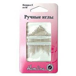 Иглы Hemline Иглы ручные с острым кончиком для шитья №5-10