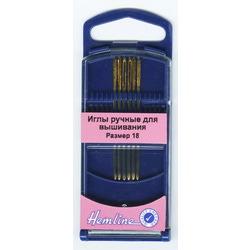 Иглы Hemline Иглы для вышивания с закруглённым кончиком в пластиковом контейнере №18