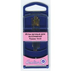 Иглы Hemline Иглы для вышивания с закруглённым кончиком в пластиковом контейнере №18 - 22
