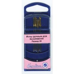 Иглы Hemline Иглы для вышивания с закруглённым кончиком в пластиковом контейнере №20