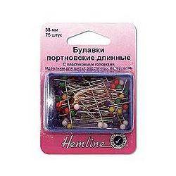 Аксессуары Hemline Булавки удлиненные с круглыми пластиковыми головками
