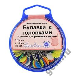 "Аксессуары Hemline Булавки с головками ""Цветок"""