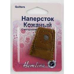 Аксессуары Hemline Наперсток кожаный с металлической вставкой